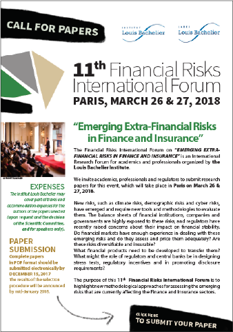 Call for papers 2018 Risk Forum