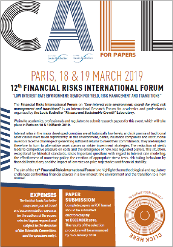 Appel à papiers 2019 Risk Forum