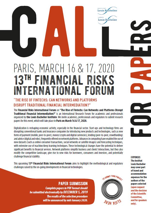 Appel à papiers 2020 Risk Forum