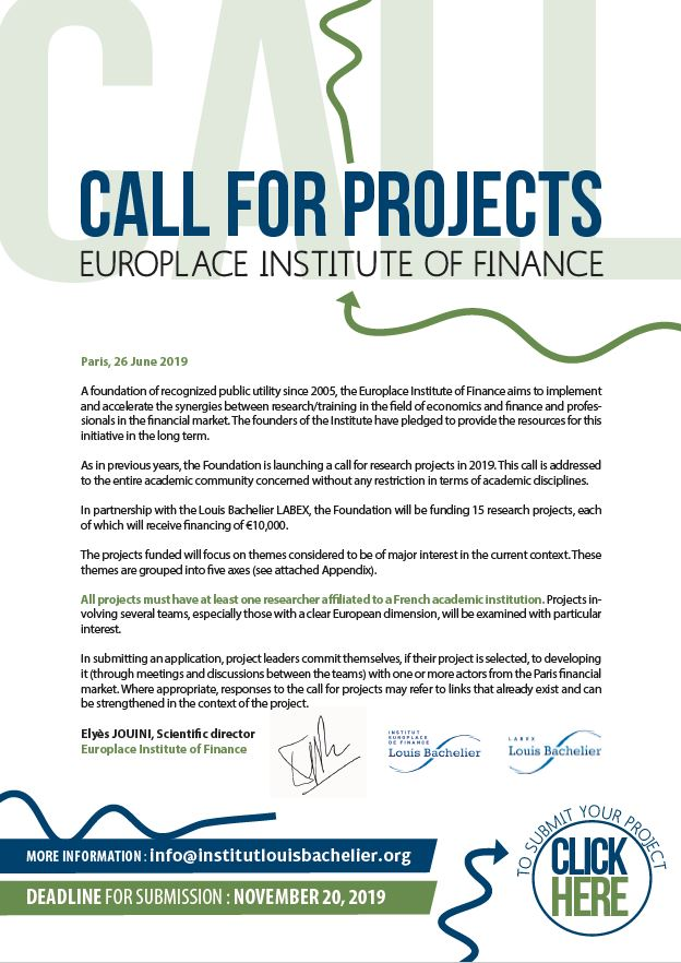 Call for projects 2019 IEF