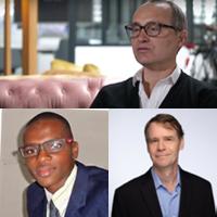 David Bounie, professeur, chef du département d'économie et des sciences sociales, Youssouf Camara, économiste, John W Galbraith, professeur en économie
