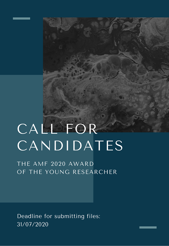 Call for candidates - The AMF 2020 award of the young researcher (FR)