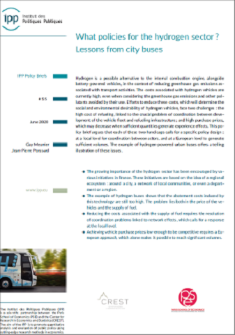 What policies for the hydrogen sector? Lessons from city buses