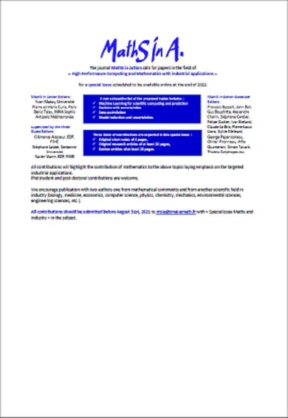 Appel à papiers Maths In Action 2021