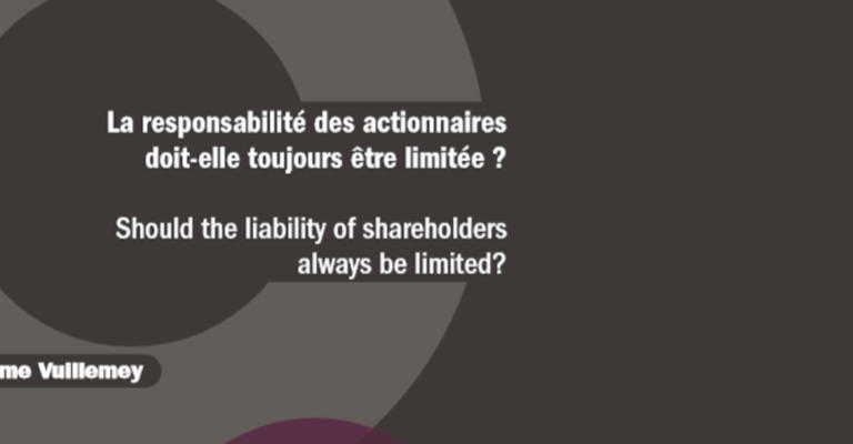 Should the liability of shareholders always be limited?