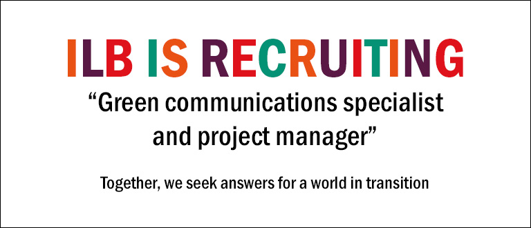 """Institut Louis Bachelier (ILB) is looking for a """"Green communications specialist and project manager"""""""