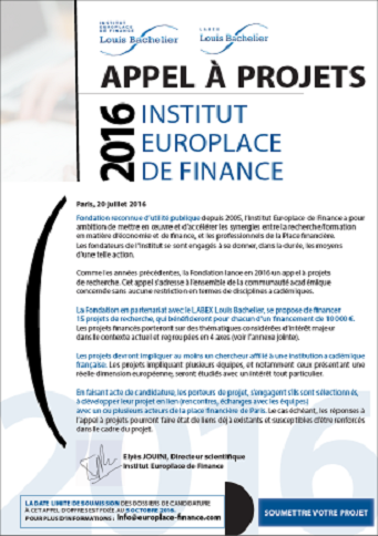 Call for projects 2016 IEF